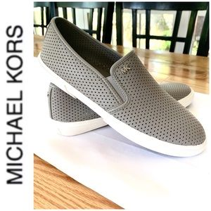 BRAND NEW authentic MK leather slip on sneakers
